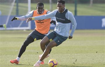 ¡Sorpresa! Yerry Mina volvió a entrenar con Everton