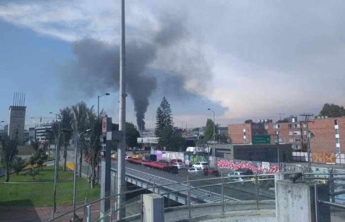 Usuarios en redes reportaron incendio en Barrios Unidos