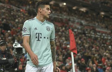 James fue titular en el empate entre Bayern y Liverpool