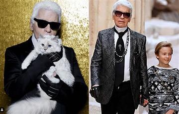 ¿Qué harían un niño y un gato con la fortuna del diseñador Karl Lagerfeld?