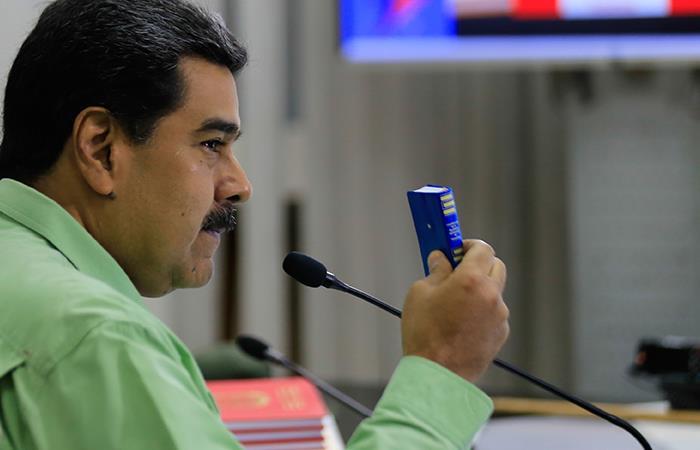 Nicolás Maduro culpa a Colombia por disturbios. Foto: EFE