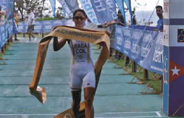 Lina María Raga se colgó el oro en el Triatlón de La Hanana