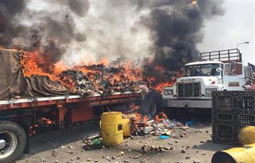 ¿Quién inició el fuego en la quema de ayuda humanitaria en Venezuela?