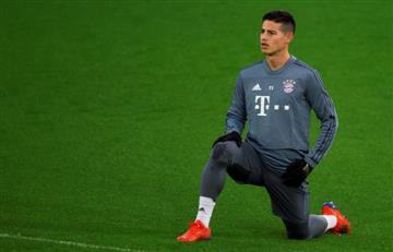 Si James Rodríguez sale de la titular, se va del Bayern Múnich