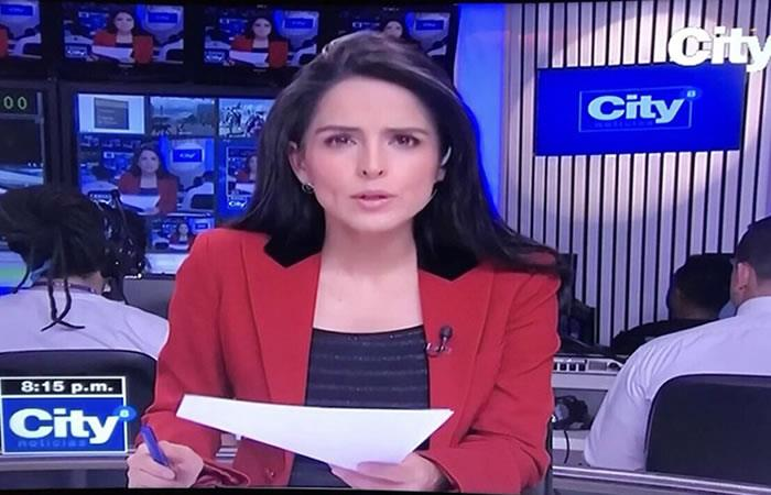 Claudia Palacios se va de City Tv. Foto: Twitter City Tv.