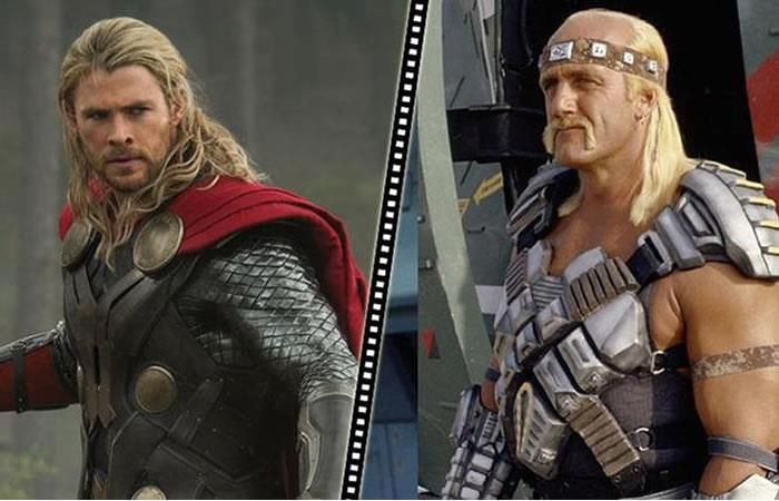 Chris Hemsworth se convierte en 'Hulk Hogan'. Foto: Twitter