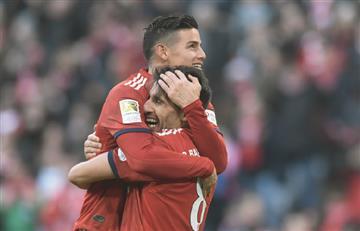 [VIDEO] Partidazo de James en la goleada del Bayern Múnich