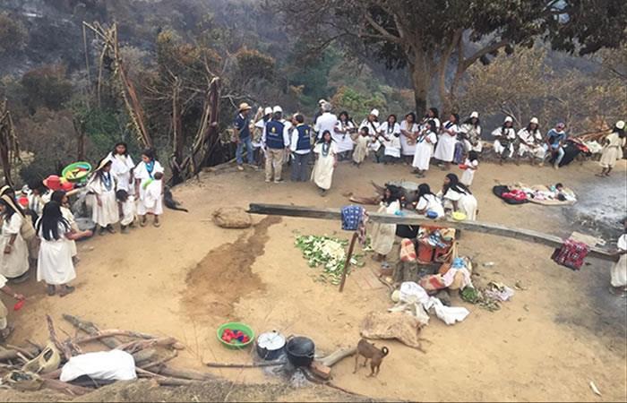 Resguardo indígena de la Sierra Nevada de Santa Marta. Foto: Twitter/@UNGRD