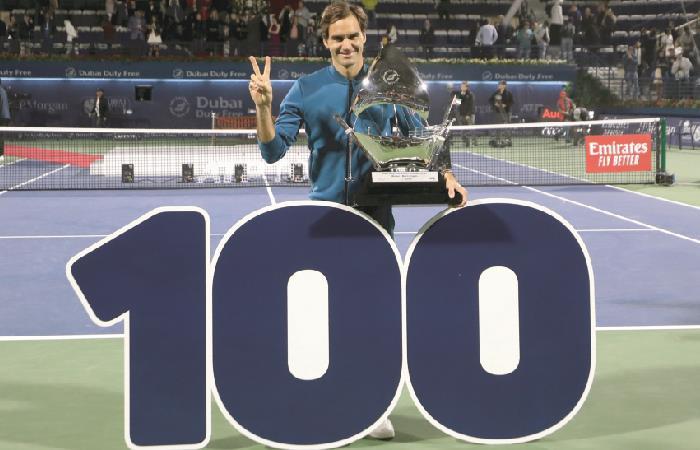 Roger Federer consigue su título número 100 en Dubai [VIDEO]