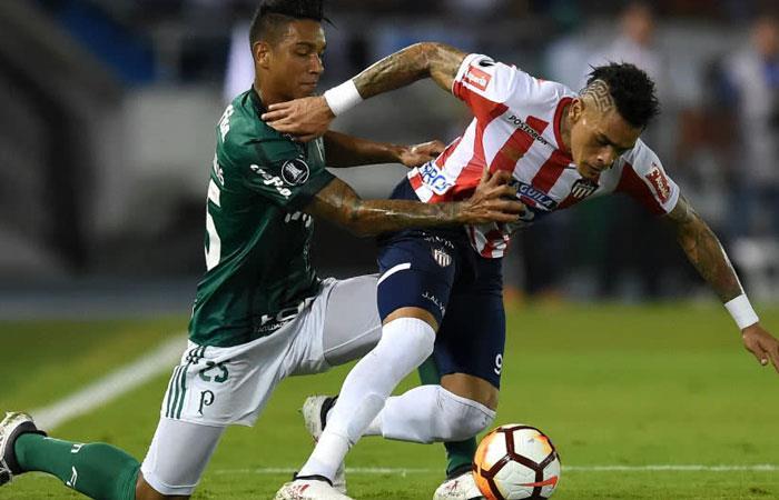 El año pasado Junior y Palmeiras también se enfrentaron por Copa Libertadores. En los dos juegos, perdió Junior. Foto: AFP