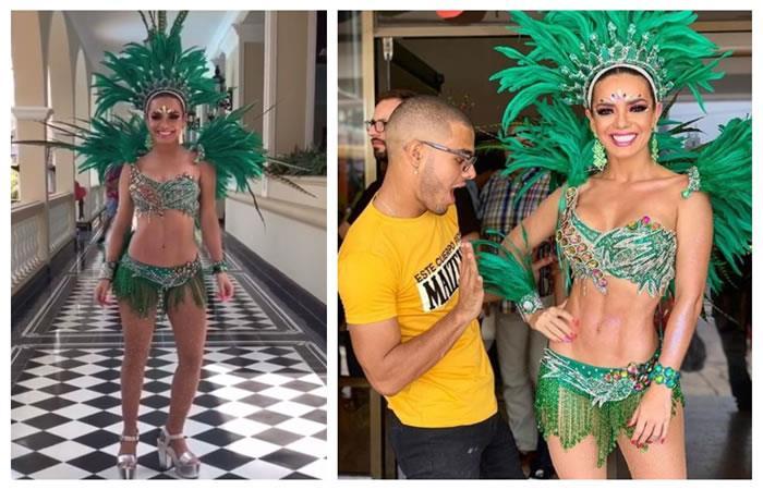 Así lucieron las famosas en la Batalla de las Flores en el Carnaval de Barranquilla