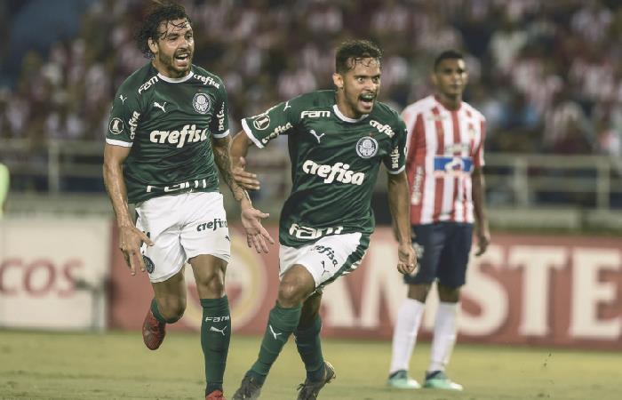 Junior cayó en su debut ante Palmeiras. Foto: AFP