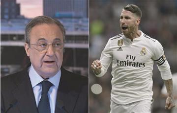 Encontronazo entre Sergio Ramos y Florentino Pérez