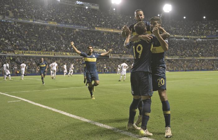 Boca goleó a Deportes Tolima y llega a 4 puntos. Foto: AFP