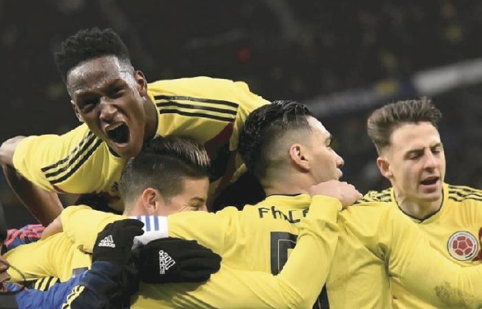 Selección Colombia en la Copa Mundial de Rusia 2018. Foto: AFP