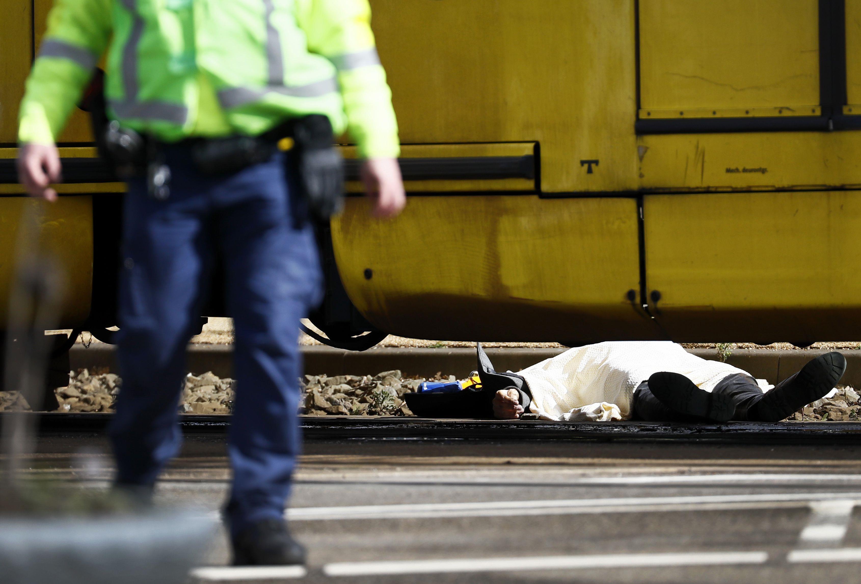 El atacante habría incurrido de forma violenta en un tranvía de Utrecht. Foto: AFP