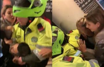 [Video] Así fue la agresión que tuvo un grupo de policías contra una pareja en Bogotá