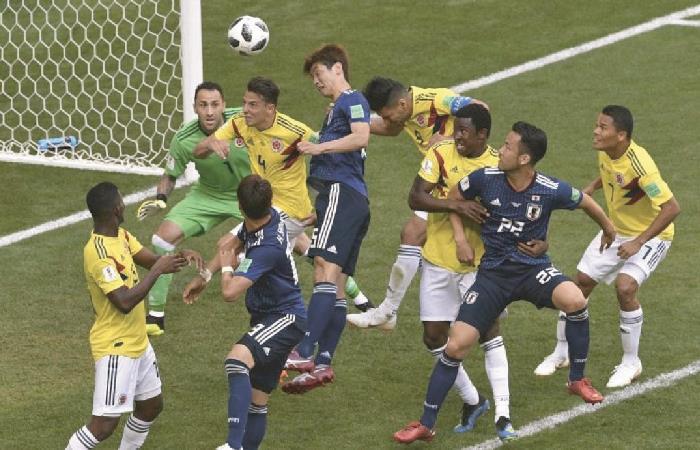 Partido entre Colombia y Japón en el Mundial de Rusia 2018. Foto: AFP