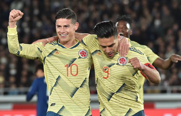 Falcao le dedicó su gol a Juan Fernando Quintero. Foto: AFP