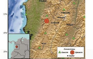 El temblor que se presentó en Colombia fue de 6,0 grados