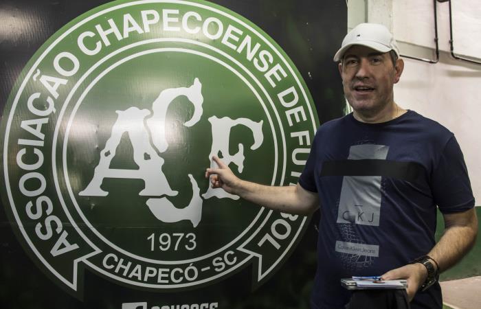 Rafael Henzel sobrevivió al accidente aéreo de Chapecoense. Foto: AFP