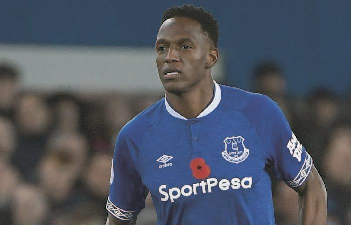 Yerry Mina jugando para Everton. Foto: AFP