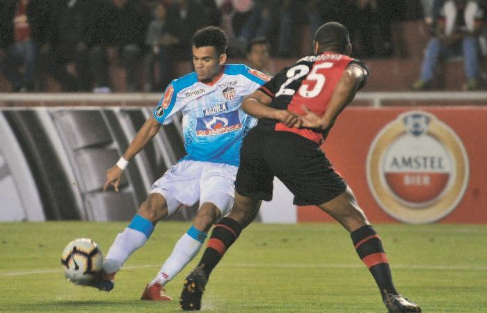 Luis Díaz fue el jugador más destacado de Junior. Foto: AFP