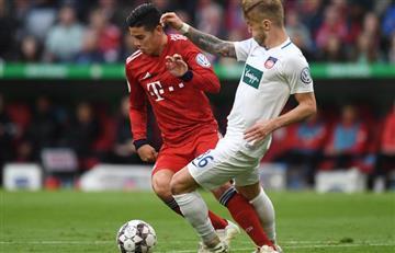 [VIDEO] ¡James titular! El colombiano jugó en la victoria de Bayern por Copa de Alemania