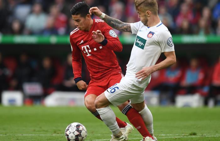 James Rodríguez fue titular en la victoria de Bayern Múnich por Copa de Alemania