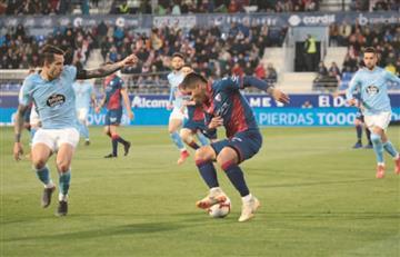 El 'Cucho' Hernández fue figura en el empate entre Huesca y Celta de Vigo