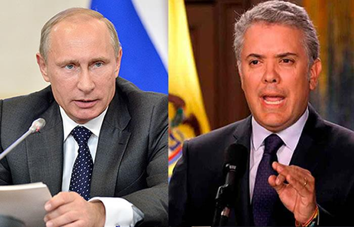 ¿Qué pasará entre las relaciones diplomáticas de Colombia y Rusia?. Foto: Twitter
