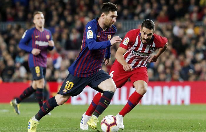 Lionel Messi sentenció la victoria 2-0 ante Atlético de Madrid. Foto: AFP