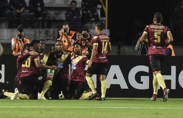Deportes Tolima va por la victoria a Brasil. Foto: AFP