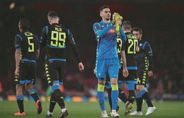 ¡Por no poner a Ospina! Nápoli cae ante Arsenal en la Europa League