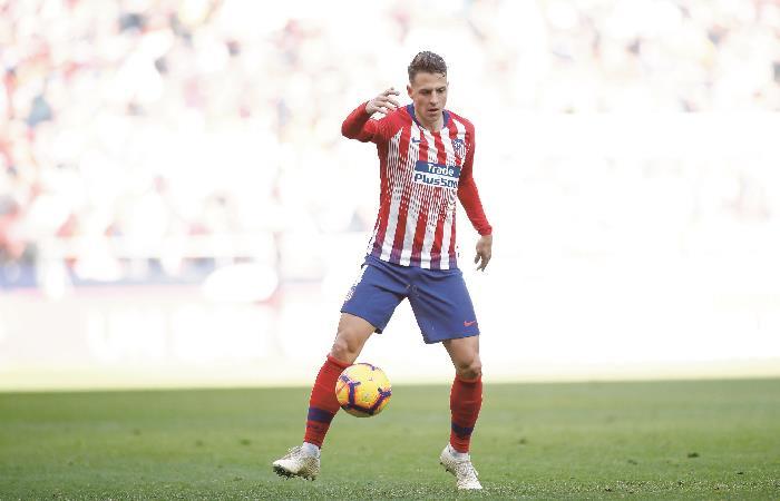 Arias en acción con el Atlético de Madrid. Foto: AFP