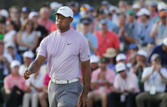 Tiger Woods en el Masters de Augusta 2019. Foto: AFP