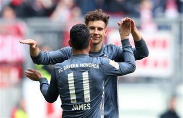 James, en solo 10 minutos, participó en gol de Bayern Múnich