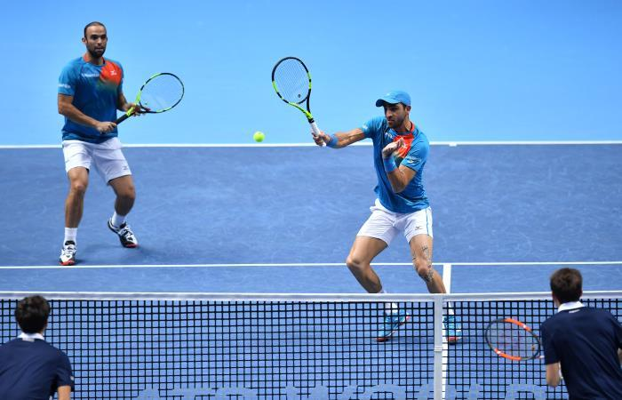 Juan Sebastián Cabal y Robert Farah en acción. Foto: AFP