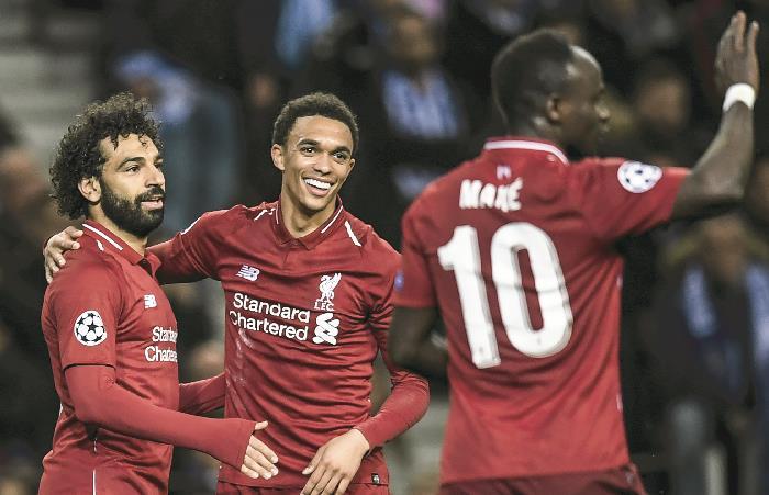 Liverpool sigue demostrando su supremacia en Champions. Foto: AFP