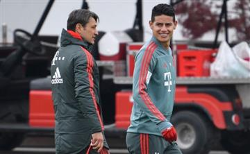 James Rodríguez se lesionó en práctica del Bayern Múnich