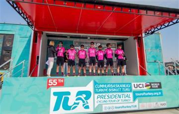 Manzana Postobón ganó título por equipos del Tour de Turquía