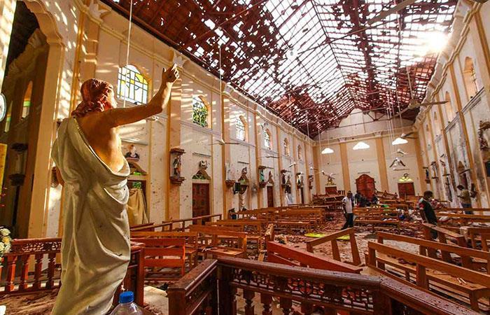 Cuatro iglesias fueron atacadas en Sri Lanka el domingo de Pascua. Foto: Twitter