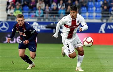 ¡Grande 'Cucho'! Con pase gol, el colombiano fue figura en victoria de Huesca
