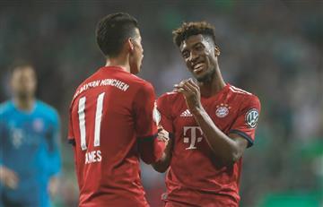 Con James, Bayern venció a Werder Bremen y jugará la final de la Copa Alemania