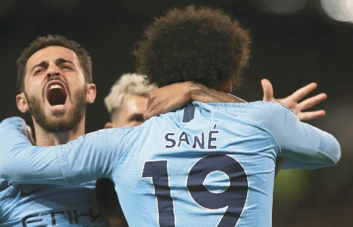 Silva y Sané le dieron la victoria al City. Foto: EFE