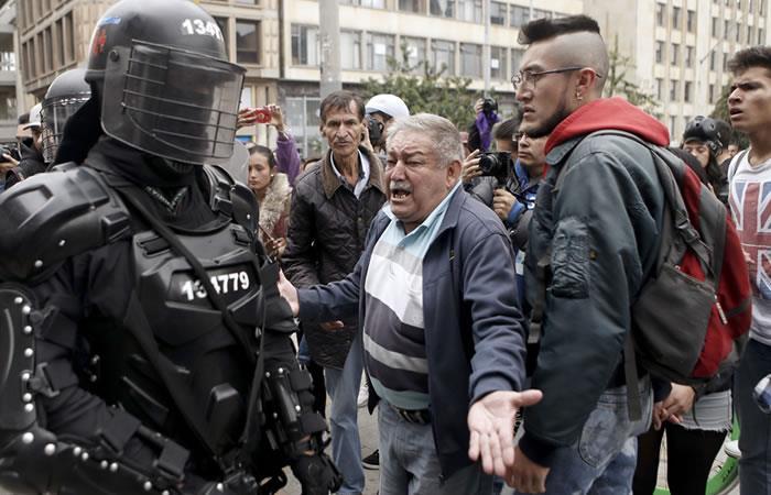La protesta no fue tan concurrida. Foto: AFP