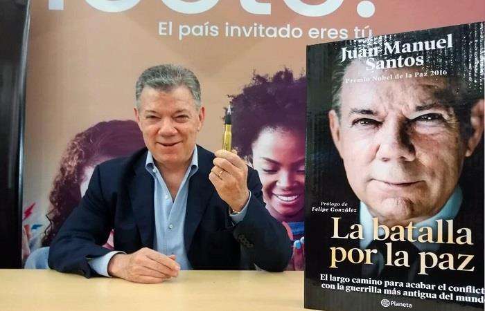 Juan Manuel Santos fue recibido entre