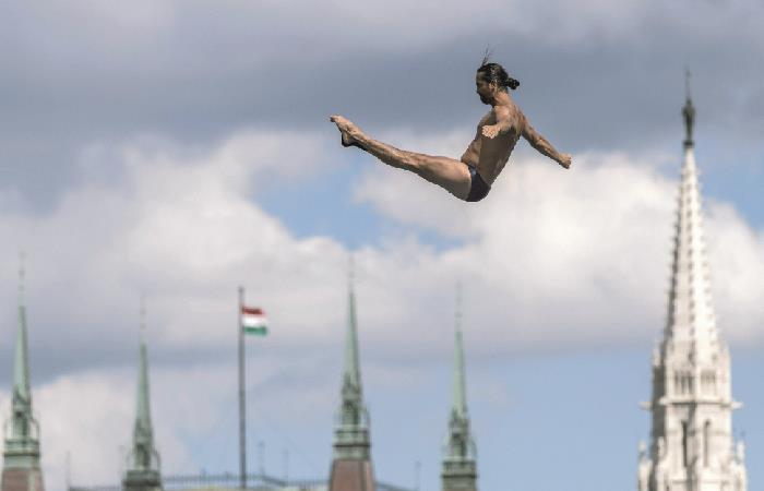 Orlando Duque en Mundial de Natación. Foto: EFE