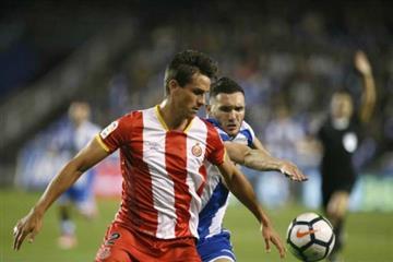 El colombiano estuvo como titular con el Girona en su derrota frente al Getafe