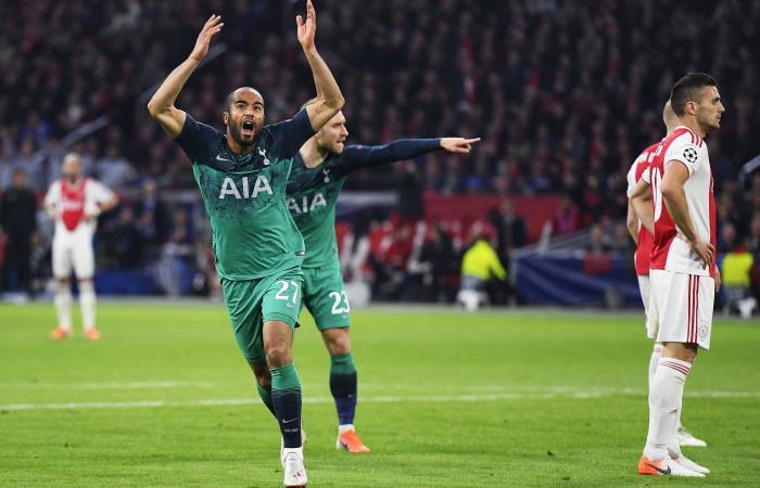 Lucas Moura anotó los tres goles de Tottenham. Foto: EFE